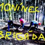 Monínec bikepark 2015 – první brigáda